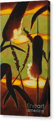 Canvas Print featuring the painting Levity Of Light by Janet McDonald