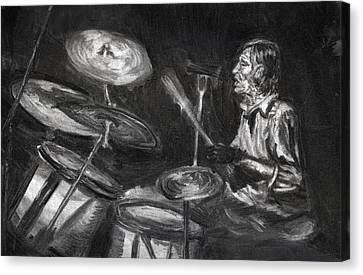 Levon Helm In Charcoal Canvas Print