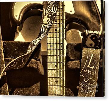Beach Hop Canvas Print - Levys Guitar I by Chuck Kuhn