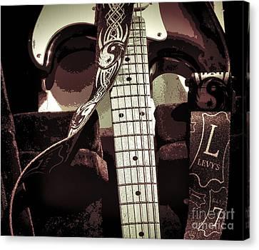 Beach Hop Canvas Print - Levys Guitar IIi by Chuck Kuhn