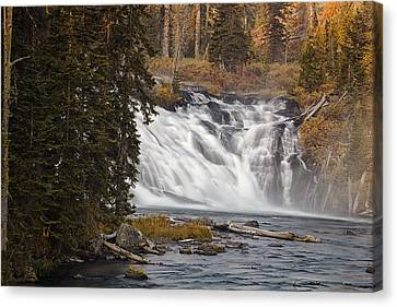 Lewis Falls - Yellowstone Canvas Print by Andrew Soundarajan