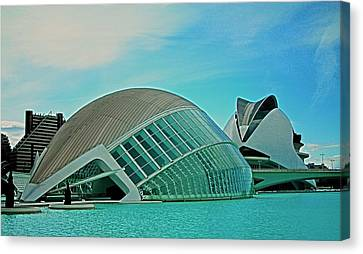 L'hemisferic - Valencia Canvas Print by Juergen Weiss
