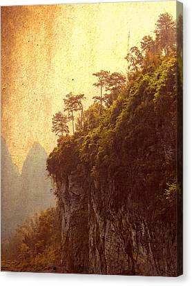 Li River Mountainside Canvas Print