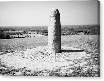 Lia Fail Stone Of Destiny Hill Of Tara Ireland Canvas Print by Joe Fox