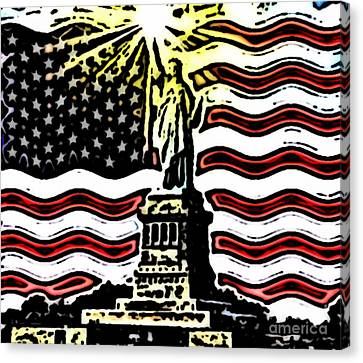Liberty And Glory Canvas Print by Thomas OGrady