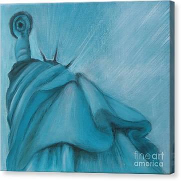 Canvas Print featuring the painting Liberty by Annemeet Hasidi- van der Leij