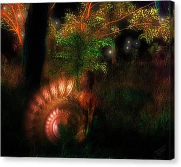 Lichtwesen Canvas Print by Mimulux patricia no No