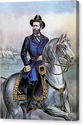 Lieutenant General Ulysses S Grant Canvas Print by Photo Researchers