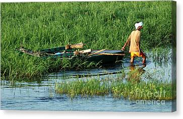 Life Along The Nile Canvas Print by Vivian Christopher