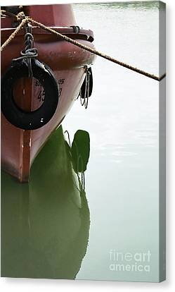 Canvas Print featuring the photograph Life-boat Reflection by Agnieszka Kubica