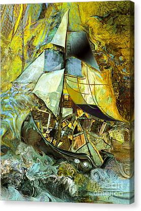 Life Boat With A Large Cargo  Canvas Print by Anne Weirich