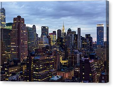 Life In The Big City Canvas Print by Janet Fikar