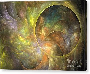 Life Of Leaf - Abstract Art Canvas Print by Abstract art prints by Sipo