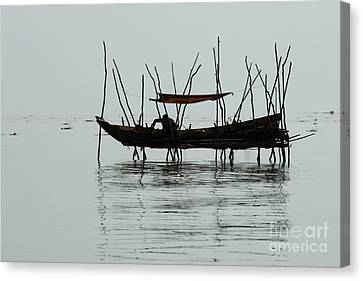 Life On Lake Tonle Sap  Canvas Print by Bob Christopher
