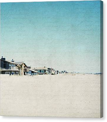 Canvas Print featuring the photograph Letters From The Beach House - Square by Lisa Parrish