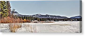 Life On The Lake Canvas Print by Janie Johnson
