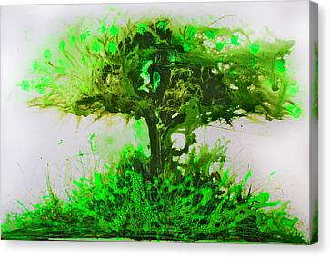 Canvas Print featuring the painting Life Tree by Lolita Bronzini