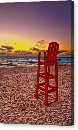 Lifeguard Chair Canvas Print by Brian Mollenkopf