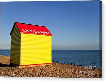 Lifeguard Hut Canvas Print by Richard Thomas