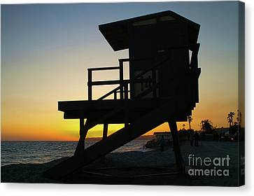 Lifeguard Silhouette Canvas Print by Mariola Bitner