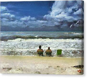 Life's A Beach Canvas Print by Rhonda Strickland