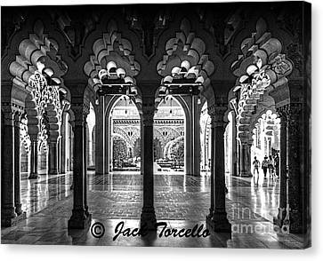 Canvas Print featuring the photograph Light And Symmetry by Jack Torcello