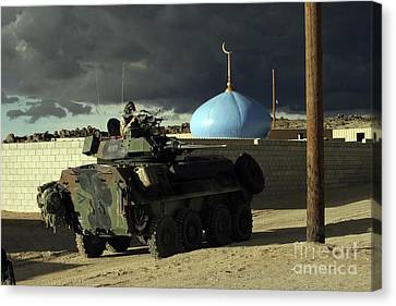 Light Armored Vehicle Commander Mans Canvas Print by Stocktrek Images