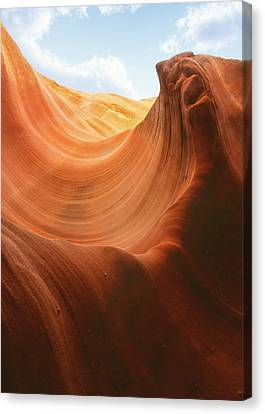 Light At The End Of The Tunnel - Antelope Canyon Az Canvas Print by Christine Till