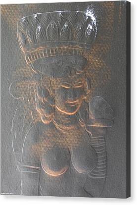 Light Behind Relief Art Canvas Print by Suhas Tavkar