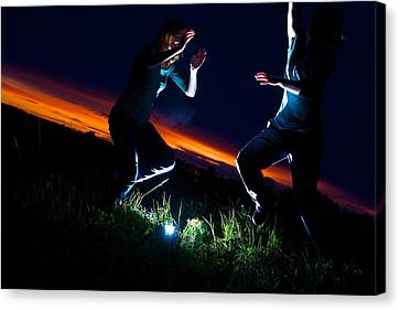 Light Dancers 1 Canvas Print