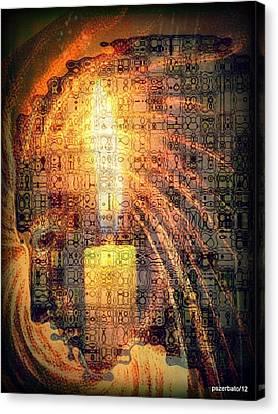Light Of Consciousness Canvas Print by Paulo Zerbato