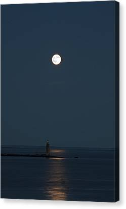 Light Of The Moon Canvas Print by Sara Hudock