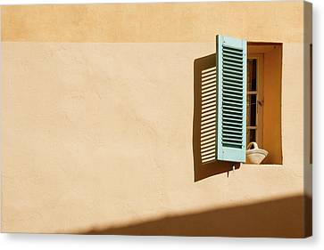Light On Window Canvas Print by Www.saint-tropez-photo.com