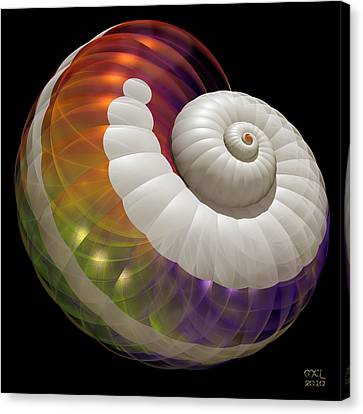 Canvas Print featuring the digital art Light Shell by Manny Lorenzo