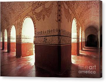 Canvas Print featuring the photograph Light Under The Arches Tepoztlan Mexico by John  Mitchell