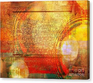 Light Word Canvas Print by Fania Simon