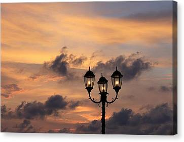 Lighted Sky Canvas Print by Michael Green