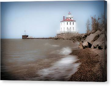 Canvas Print featuring the photograph Lighthouse At Fairport Harbor by Michelle Joseph-Long