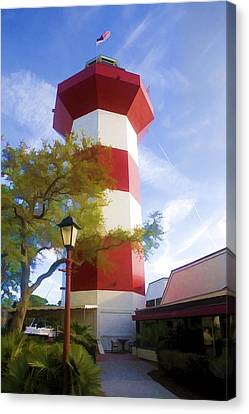 Lighthouse At Hilton Head Canvas Print by Gregory Scott