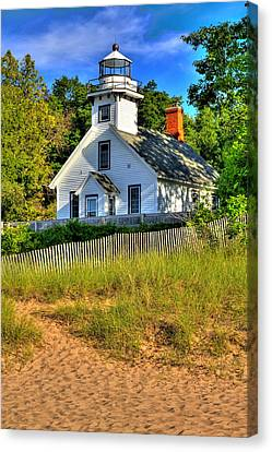 Canvas Print featuring the photograph Lighthouse Home by Coby Cooper
