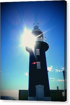 Canvas Print featuring the photograph Lighthouse In The Sunlight by Roberto Gagliardi