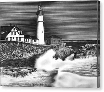 Lighthouse Canvas Print by Jerry Winick