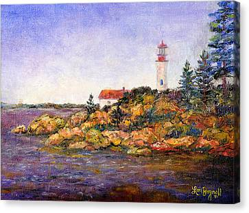 Canvas Print featuring the painting Lighthouse by Lou Ann Bagnall