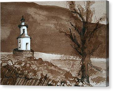 Lighthouse On Wisconsin Point Canvas Print
