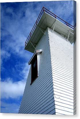 Lighthouse Prince Edward Island Canvas Print by Ann Powell