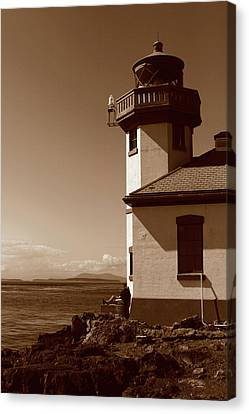 Canvas Print featuring the photograph Lighthouse San Juan by Lorraine Devon Wilke