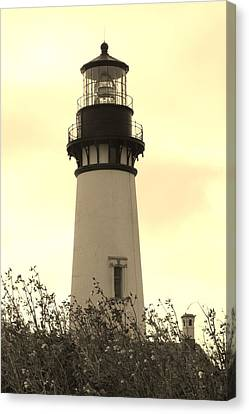 Canvas Print featuring the photograph Lighthouse Tranquility by Athena Mckinzie