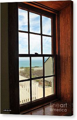Lighthouse Window Canvas Print by Methune Hively
