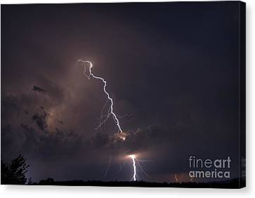 Canvas Print featuring the photograph Lighting  by Alana Ranney