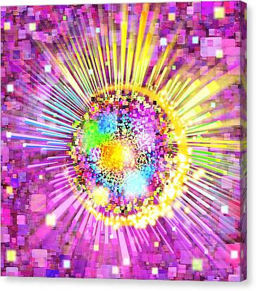 Lighting Effects And Graphic Design Canvas Print by Setsiri Silapasuwanchai